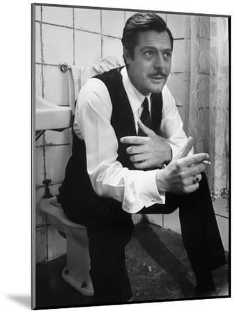"""Actor Marcello Mastroianni in a Scene From the Movie """"Marriage Italian Style""""-Alfred Eisenstaedt-Mounted Premium Photographic Print"""