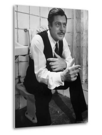 """Actor Marcello Mastroianni in a Scene From the Movie """"Marriage Italian Style""""-Alfred Eisenstaedt-Metal Print"""