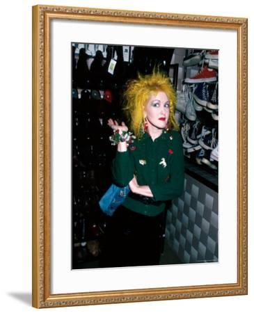 Singer Cyndi Lauper-David Mcgough-Framed Premium Photographic Print