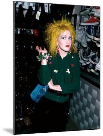 Singer Cyndi Lauper-David Mcgough-Mounted Premium Photographic Print