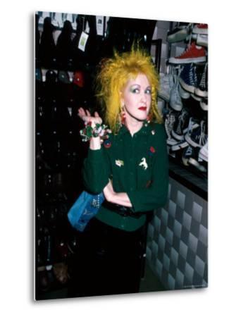 Singer Cyndi Lauper-David Mcgough-Metal Print