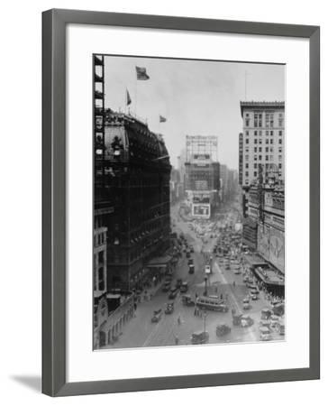Intersection of Broadway and 7th Avenue, North of Times Square-Emil Otto Hopp?-Framed Photographic Print