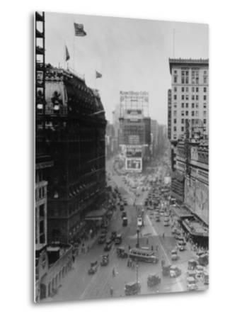 Intersection of Broadway and 7th Avenue, North of Times Square-Emil Otto Hopp?-Metal Print