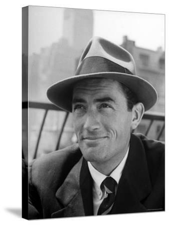 Portrait of Gregory Peck, Wearing a Hat-Nina Leen-Stretched Canvas Print