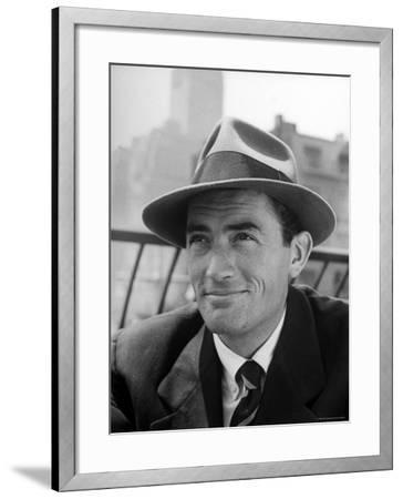 Portrait of Gregory Peck, Wearing a Hat-Nina Leen-Framed Premium Photographic Print