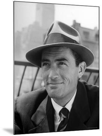 Portrait of Gregory Peck, Wearing a Hat-Nina Leen-Mounted Premium Photographic Print