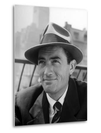 Portrait of Gregory Peck, Wearing a Hat-Nina Leen-Metal Print