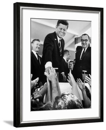 President John F. Kennedy, During His Western Trip to Inspect Dams and Power Projects-John Loengard-Framed Photographic Print