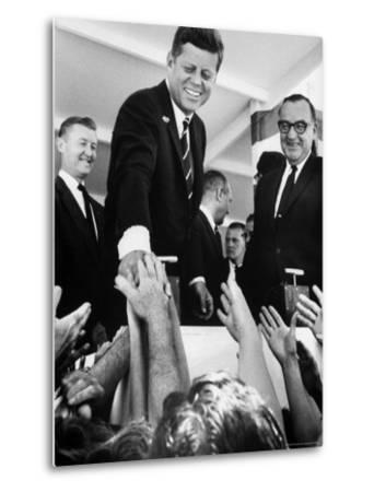 President John F. Kennedy, During His Western Trip to Inspect Dams and Power Projects-John Loengard-Metal Print