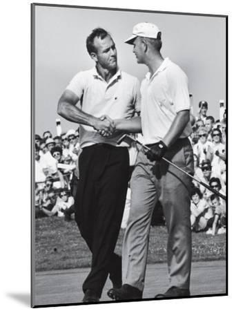 Golfer Jack Nicklaus and Arnold Palmer During National Open Tournament-John Dominis-Mounted Premium Photographic Print