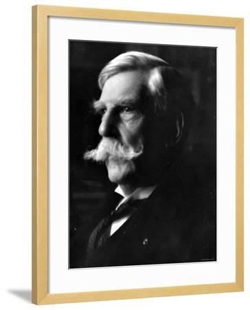 Portrait of Oliver Wendell Holmes, American Jurist and Associate Justice of the U.S. Supreme Court--Framed Premium Photographic Print