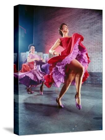 Chita Rivera and Liane Plane Dancing in a Scene from the Broadway Production of West Side Story-Hank Walker-Stretched Canvas Print