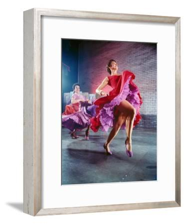 Chita Rivera and Liane Plane Dancing in a Scene from the Broadway Production of West Side Story-Hank Walker-Framed Premium Photographic Print