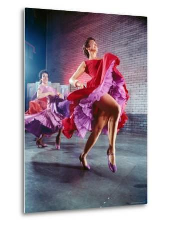 Chita Rivera and Liane Plane Dancing in a Scene from the Broadway Production of West Side Story-Hank Walker-Metal Print