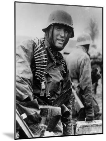Captured Photo Shows German Ss Panzer Trooper Geared for Winter Battle During Battle of the Bulge--Mounted Photographic Print