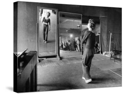 Gwen Verdon Rehearsing for the Broadway Musical Damn Yankees-Peter Stackpole-Stretched Canvas Print