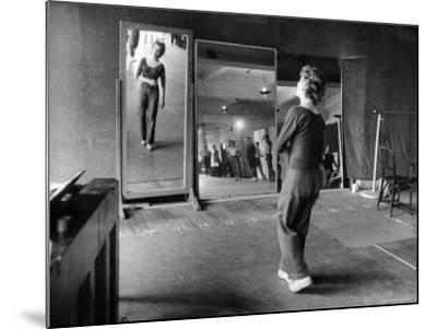 Gwen Verdon Rehearsing for the Broadway Musical Damn Yankees-Peter Stackpole-Mounted Premium Photographic Print