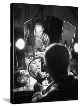 Alec Guiness Putting on His Make Up in Dressing Room at the Stratford Shakespeare Festival-Peter Stackpole-Stretched Canvas Print