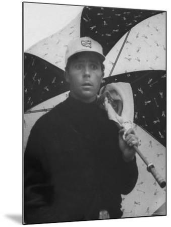 Masters Golf Tournament Winner Gary Player, Waiting for the Rain to Let Up-George Silk-Mounted Premium Photographic Print