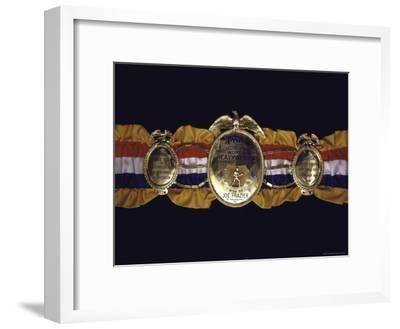 "Boxing Champ Joe Frazier's ""The Ping Magazine Award World Heavyweight Championship"" Medal-John Shearer-Framed Photographic Print"
