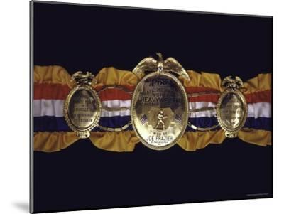 "Boxing Champ Joe Frazier's ""The Ping Magazine Award World Heavyweight Championship"" Medal-John Shearer-Mounted Photographic Print"