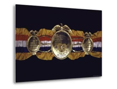 "Boxing Champ Joe Frazier's ""The Ping Magazine Award World Heavyweight Championship"" Medal-John Shearer-Metal Print"