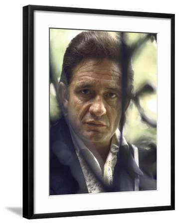 Country/Western Singer Johnny Cash-Michael Rougier-Framed Premium Photographic Print