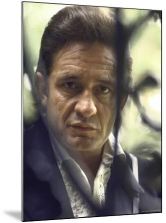 Country/Western Singer Johnny Cash-Michael Rougier-Mounted Premium Photographic Print