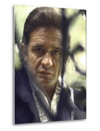 Country/Western Singer Johnny Cash-Michael Rougier-Metal Print