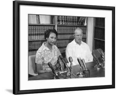Richard P. Loving and Wife, After Supreme Court Rules That Inter Racial Marriage is Legal-Francis Miller-Framed Premium Photographic Print