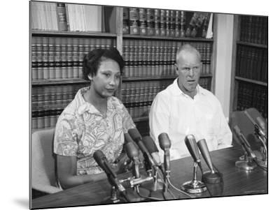 Richard P. Loving and Wife, After Supreme Court Rules That Inter Racial Marriage is Legal-Francis Miller-Mounted Premium Photographic Print