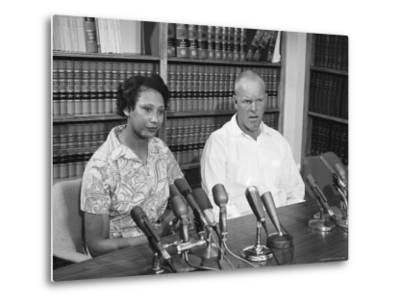 Richard P. Loving and Wife, After Supreme Court Rules That Inter Racial Marriage is Legal-Francis Miller-Metal Print