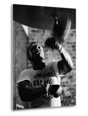 Boxing Champ Joe Frazier Working Out for His Scheduled Fight Against Muhammad Ali-John Shearer-Metal Print