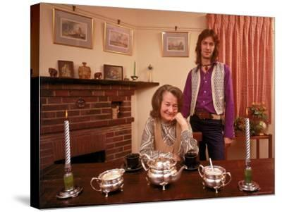 Eric Clapton with His Grandmother Rose Clapp-John Olson-Stretched Canvas Print