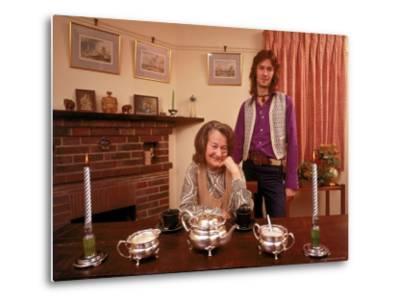 Eric Clapton with His Grandmother Rose Clapp-John Olson-Metal Print
