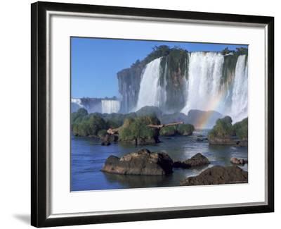 Waterfall Named Iguassu Falls, Formerly Known as Santa Maria Falls, on the Brazil Argentina Border-Paul Schutzer-Framed Photographic Print