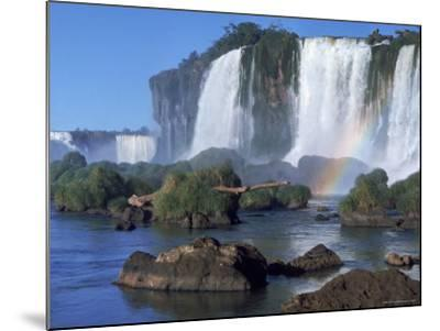 Waterfall Named Iguassu Falls, Formerly Known as Santa Maria Falls, on the Brazil Argentina Border-Paul Schutzer-Mounted Photographic Print