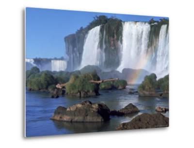 Waterfall Named Iguassu Falls, Formerly Known as Santa Maria Falls, on the Brazil Argentina Border-Paul Schutzer-Metal Print