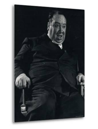 Director Alfred Hitchcock on Set of Motion Picture Shadow of a Doubt-Gjon Mili-Metal Print