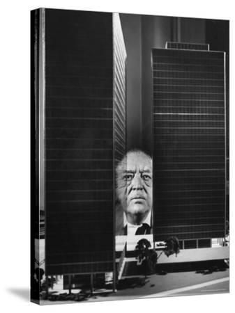 German Architect Mies Van Der Rohe and his Modern Apartment Buildings Designed for Lake Shore Drive-Frank Scherschel-Stretched Canvas Print