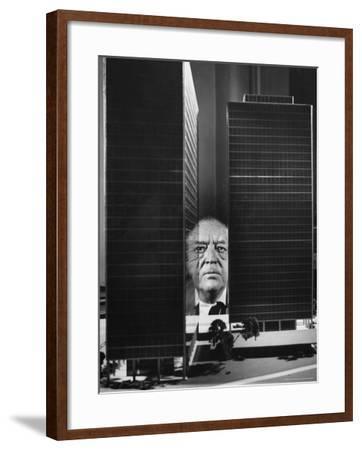 German Architect Mies Van Der Rohe and his Modern Apartment Buildings Designed for Lake Shore Drive-Frank Scherschel-Framed Premium Photographic Print