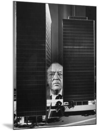 German Architect Mies Van Der Rohe and his Modern Apartment Buildings Designed for Lake Shore Drive-Frank Scherschel-Mounted Premium Photographic Print