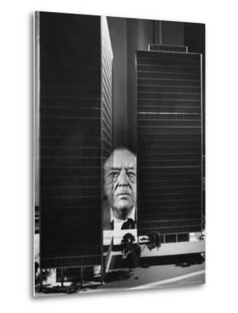 German Architect Mies Van Der Rohe and his Modern Apartment Buildings Designed for Lake Shore Drive-Frank Scherschel-Metal Print