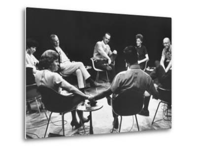 Dr. Carl Rogers During Group Therapy Session-Michael Rougier-Metal Print
