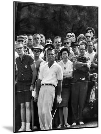 Arnold Palmer After Winning the Masters Tournament-George Silk-Mounted Premium Photographic Print