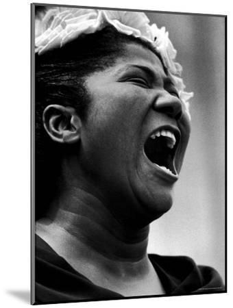 Gospel Singer Mahalia Jackson Singing at 'Prayer Pilgrimage for Freedom'-Paul Schutzer-Mounted Premium Photographic Print