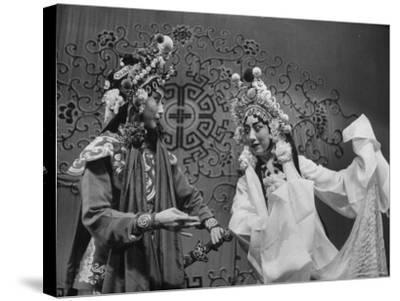 Peking Opera-Frank Scherschel-Stretched Canvas Print