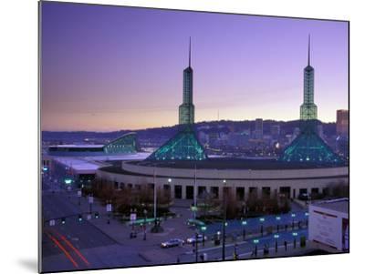 Convention Center at Sunset, Portland, Oregon, USA-Janis Miglavs-Mounted Photographic Print