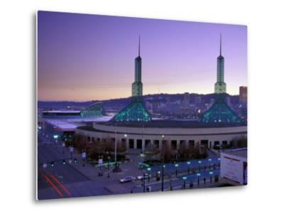 Convention Center at Sunset, Portland, Oregon, USA-Janis Miglavs-Metal Print