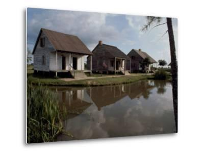 Houses in the Bayou Country of Louisiana--Metal Print